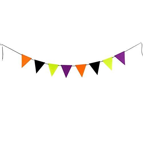 (akaddy Halloween Filz Stoff Bunte Wimpel Flagge Pull Flag Hanging Anhänger für Dekoration, Hotel, Bar Flagge Decor)