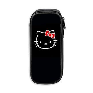 «Hello Kitty Estuche para lápices, Bolso de lona,   Bolso portátil con cremallera para estudiantes de oficina para niños, niñas y adultos»