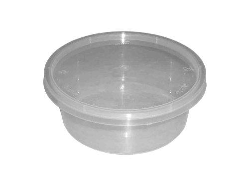 50redondo 10oz Plástico transparente apta para microondas/horno recipientes de almacenamiento comida para bebés