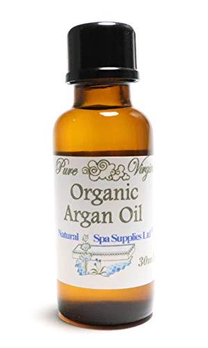 Natural Spa Supplies Ltd Huile d'argan, vierge, pressée à froid, pure marocaine bio en verre, hydratant anti-âge
