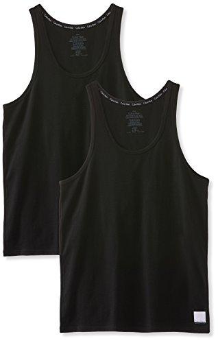 Calvin Klein Herren Top 2ptank, 2er Pack, Schwarz (Black / Black), M