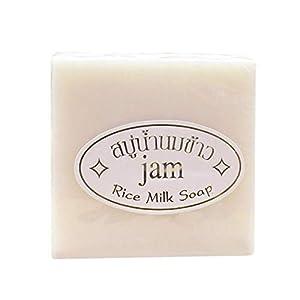 Jabón hecho a mano Yiitay Arroz glutinoso Hidratantes limpiadores Quite las espinillas Anti-ácaros Jabón exfoliante…