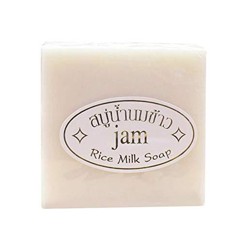 Allouli Glutinous Rice Milk Face Cleansing Soap Handmade Bar Collagen Vitamin Whitening Bathing -
