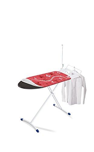 Leifheit AirSteam Premium M - Tabla de planchar de plástico, color rojo/blanco