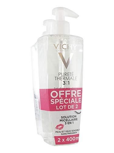 Vichy Pureté thermale 3 en 1 solution micellaire 2x400 ml - Vichy Purete Thermale
