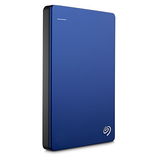 Seagate 1TB Backup Plus Slim (Blue) USB 3.0 External Hard Drive for PC/Mac with 2 Months Free Adobe Photography Plan