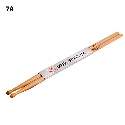 Hölzerne materielle Trommel-Stöcke 5A 7A professioneller schmutziger Trommelstock-klassischer Ahornstock-Sätze mit einziehbarer Drahtbürste und Bündeldübel-Trommelstöcken plus wasserdichtes