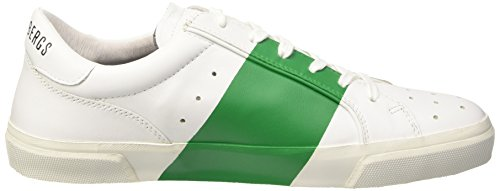Bikkembergs Rubb-Er 668 L.Shoe M Leather, chaussures basses Homme Blanc Cassé (White/Green)