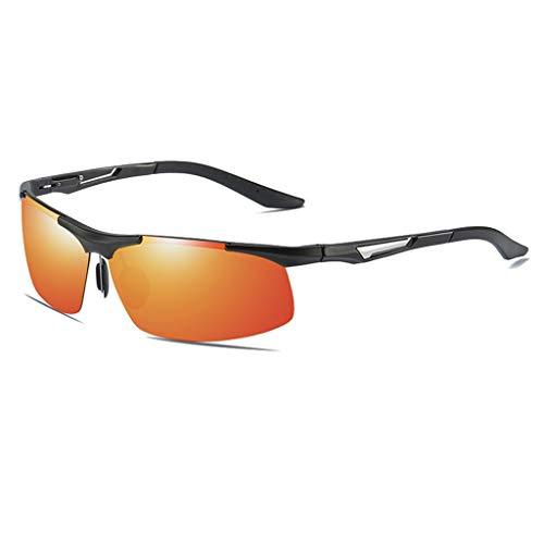 Jinxiaobei Herren Sonnenbrillen Semirandless Wrap Around Sportbrillen for Herren Colored Lens Sportbrillen Colored Lens (Color : Orange)