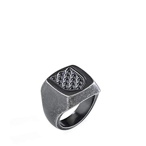 Morellato Anello da uomo Collezione Nobile acciaio e cristalli SAKB23025