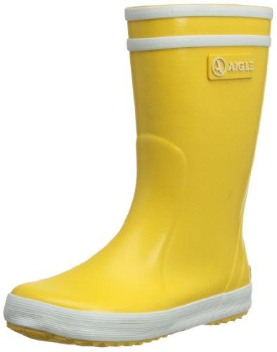 Aigle Lolly-Pop 845532 Stivali da Pioggia per Bambini, Unisex, Giallo (Gelb (jaune / blanc 3)), 24 EU