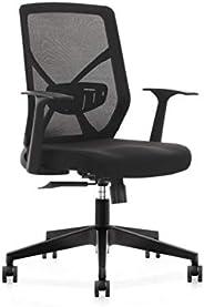 Spacewood LiteOffice O-Fit Mesh Back Nylon Base Office Chair (Black)