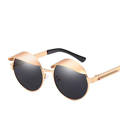 WZYMNTYJ Metall Runde Steampunk Sonnenbrille Männer Frauen Mode Brille Retro Rahmen Vintage Sonnenbrille Hip Hop Männer UV400