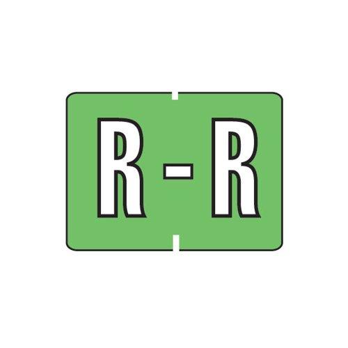 Smead A-Z color-coded etiquetas, R, luz verde, 252etiquetas por paquete (22039)