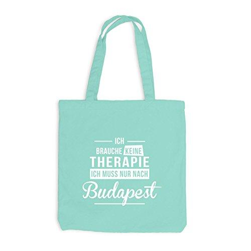 Jutebeutel - Ich Brauche Keine Therapie Budapest - Therapy Urlaub Ungarn Mint