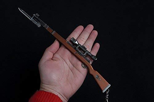 Kar98K Gewehr-Modell-Spiel-Modell-Spiel-Spiel-Modell-Spiele, 9,4 cm, Metall, 1/4 Action-Figur Spielzeug Sammlung Schlüsselanhänger -