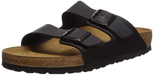 Birkenstock Arizona Damen Schwarz Folien Sandalen Schuhe Größe Neu EU 38 - Schwarze Folien Clogs