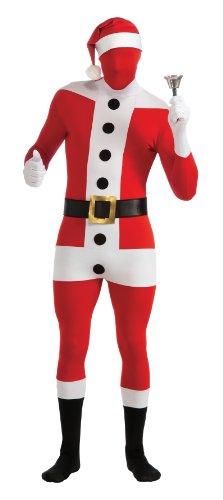 Rubie's Weihnachtsmann Second-Skin-Suit Kostüm schwarz-Weiss-rot (Rubies Weihnachtsmann Kostüm)
