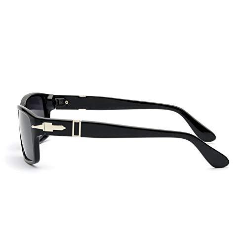 AAMOUSE Retro polarisierte Sonnenbrille für Herren, die Tom Cruise James Bond-Sonnenbrille, Designer-Rechteckbrille für Damen