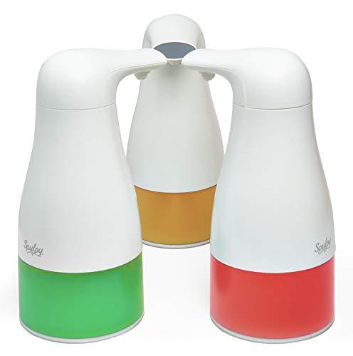 Spulpy Dispensador de jabón automático de Espuma, Funciona con Pilas, Elegante, Manos Libres, dispensador automático de jabón de Espuma para baño y Cocina, sin Contacto, encimera, Capacidad de 250 ml
