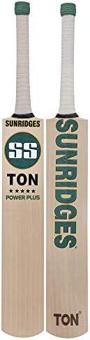 SS EW BAT RETRO Power plus Grade 1 English Willow Cricket Bat ( Size: Short Handle,Leather Ball )