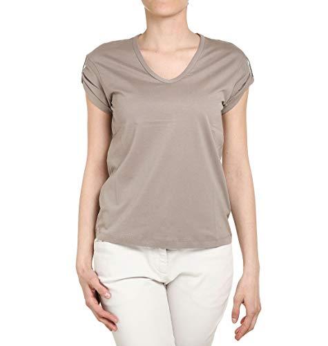 Brunello Cucinelli T-Shirt Donna Mr97342d10c5287 Cotone Grigio
