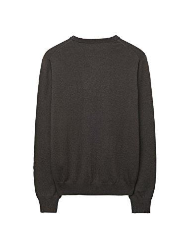 GANT Herren Pullover Cotton Wool Crew Braun