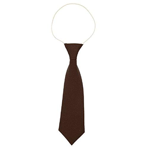 Cravate d'école élastique - Convient pour l'école maternelle/primaire - Marron - taille unique