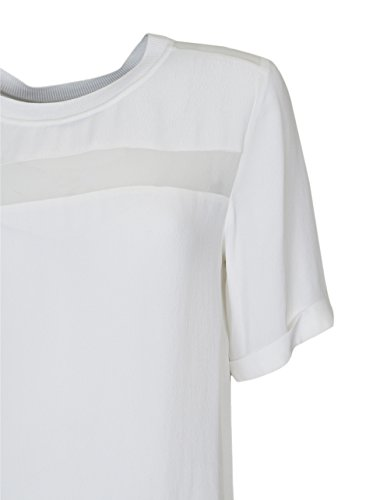 SECOND FEMALE Damen Bluse aus Viskose / Seide in Creme-Weiss Offwhite
