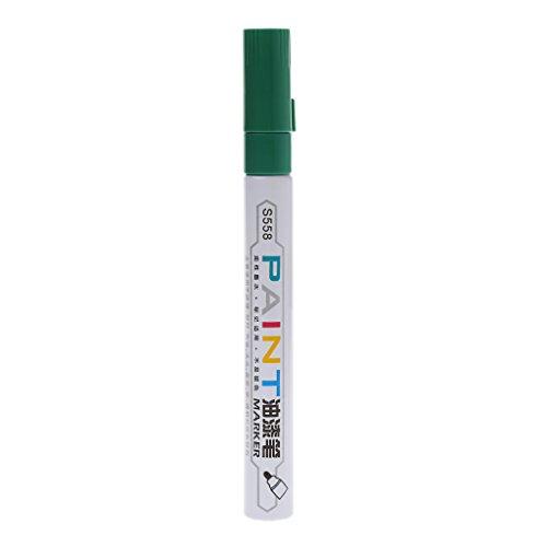 Kathope - Pennarello indelebile per vernici a olio, impermeabile, per esterni, in metallo verde
