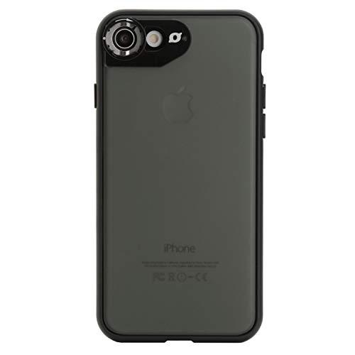 Wolffilms Lens Case kompatibel mit iPhone 7 und iPhone 8 [kabelloses Laden] inklusive Objektiv Bajonettverschluss - schwarz
