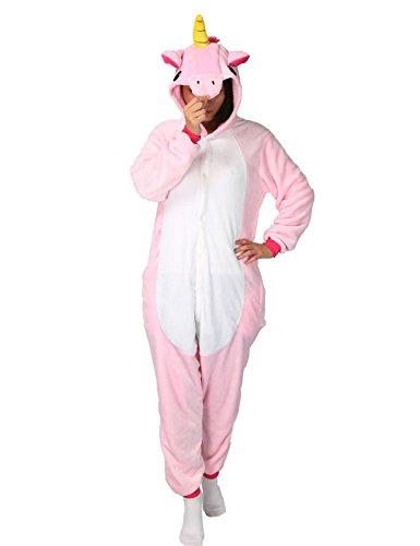 Der Beste Kostüme Freund Einfach (Tier Pyjama Einhorn Kostüm Karton Tierkostüme Jumpsuit Erwachsene Schlafanzug Unisex)