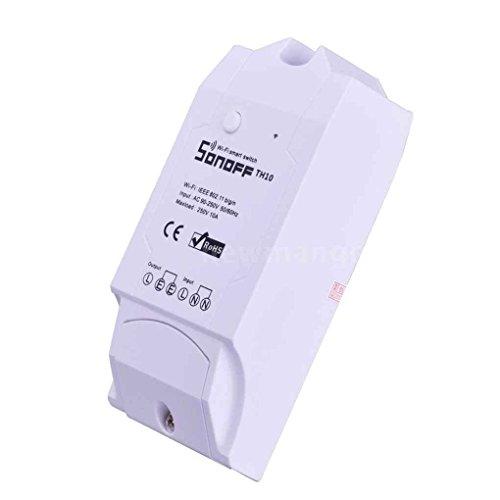Sonoff TH10 Contrôle de la température et de l'humidité Interrupteur intelligent WiFi pour DIY Smart Home (MAX Current 10A)