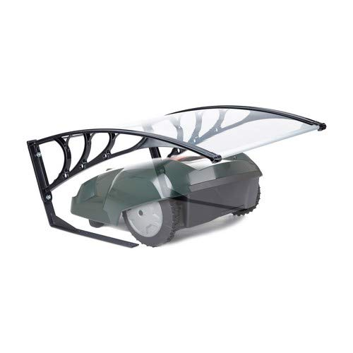 Relaxdays Robotic Lawn Mower Garage, UV-Protection, Weatherproof, HxWxD 47x82x102 cm, Polycarbonate, Transparent