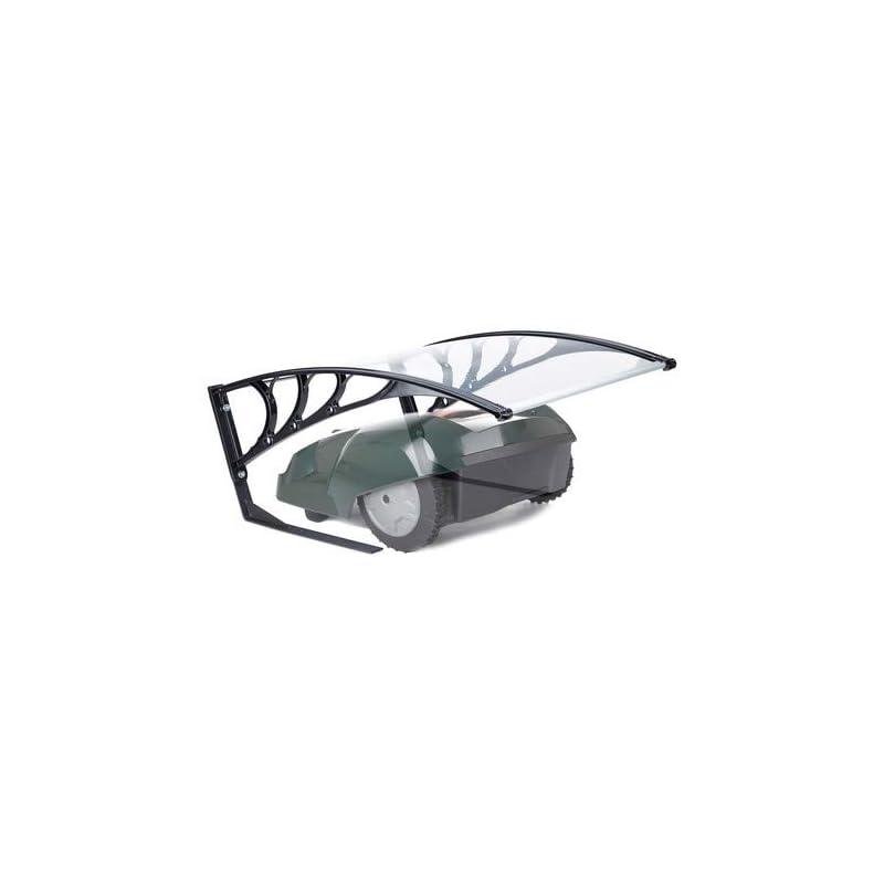 Relaxdays Robotic Lawn Mower Garage, UV-Protection, Weatherproof, HxWxD 47x82x102 cm, Polycarbonate, Transparent