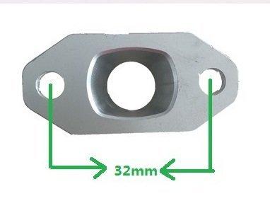 Air Ansaugkrümmer 32mm/mannigfaltigkeit Lufteinlass Ventil Kit 32mm/32mm Lufteinlass Air Monteurhilfe für 2Takt Gas Fahrrad Motor Motor Kit Motor Bike