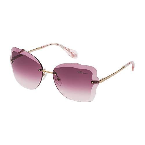 Blumarine occhiali da sole donna cammello lucido lenti violet gradient pink sbm118 08fe 63-16-135