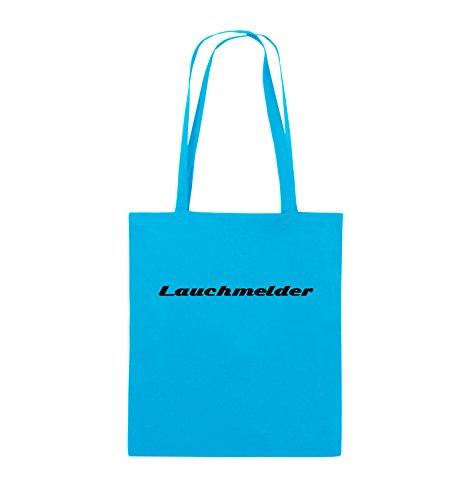 Comedy Bags - Lauchmelder - Jutebeutel - lange Henkel - 38x42cm - Farbe: Schwarz / Weiss Hellblau / Schwarz