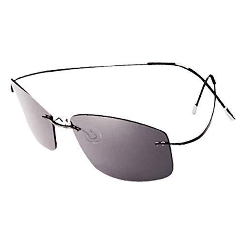 sijiaqi Unisex SonnenbrilleNew Fashion Ultraleicht Randlose Titan Polarisierte Sonnenbrille Männer Fahren Angeln Sonnenbrille,Style 1