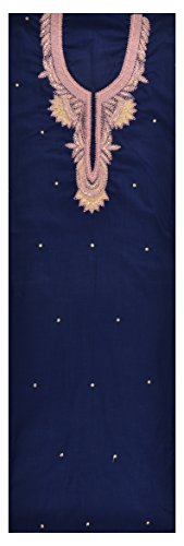 Sanskriti Sarees Women's Jacquard Unstitched Kurta (Blue)