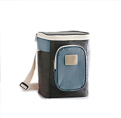 MYLEDI Isoliert Picknicktasche, Gewaschenes Nylon Multifunktionale Cooler Bag Wasserdichtem Lecksicher Lebensmitteltransport Wiederverwendbar Arbeit Outdoor Camping Reise Fitness Picknick,Blau
