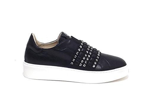 Janet sport donna, articolo 39708, sneaker pelle, nero nr 38 E7102