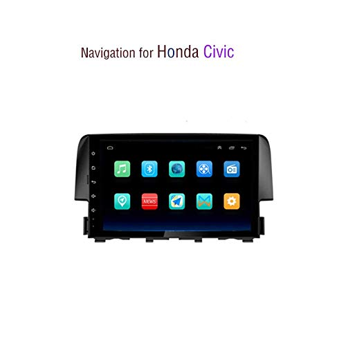 Android 8.1 in Dash Auto Stereo MP5 Player 10,2 Zoll für Honda Civic (2016-2019), GPS Radio Stereo kapazitiver Touchscreen, WiFi, Bluetooth, Mirror Link,1.0T Honda Civic Stereo