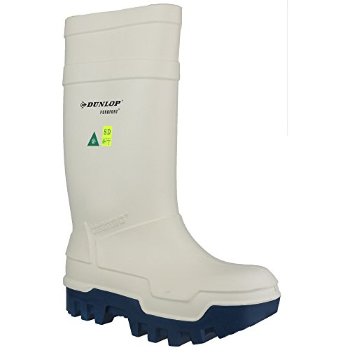 Dunlop Mens Purofort Thermo+ Toe & Midsole Cap Safety Wellington Boots blanc