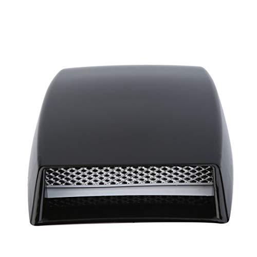 3 Farben Auto Styling universal dekorative luftstrom einlass Schaufel Turbo Motorhaube Vent Abdeckung haube Silber/weiß/schwarz Auto Styling (Farbe: schwarz) (Vent Dekorative Abdeckung)
