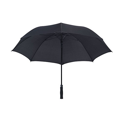 "eBuyGB XL Automatic Opening Stick Handle Golf Umbrella, 51"" Regenschirm, 99 cm, Schwarz (Black)"
