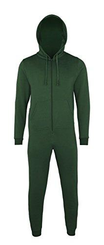 Sofasurfer® Overall Sweatoverall Jumpsuit Jumper mit und ohne Druck Bottlegreen