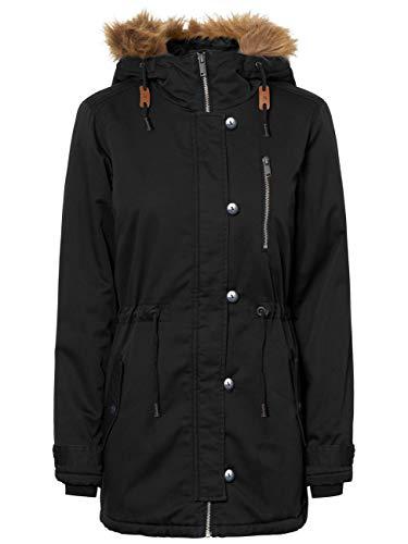 Noisy may Damen Jacke NMKATIE L/S Long Jacket 4B, Größe:XS, Farbe:Black (27002543)