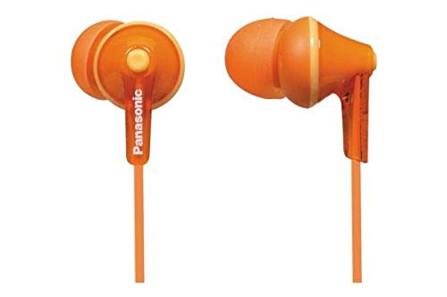Panasonic RP-HJE125E-D In-Ohr-Kopfhörer (Drei Paar Pass-Stücke, 10-24.000 Hz, 1,1 m Kabel) orange