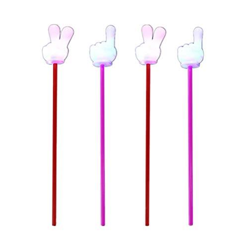 Toyvian 4pcs leuchtende Party Stick für Dance Club Party Favors (mit Knopfbatterie)
